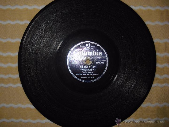 DISCO DE PIZARRA , TONY BRENT , THE GAME OF LOVE , DARK MOON (Música - Discos - Pizarra - Solistas Melódicos y Bailables)