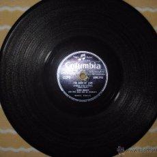Discos de pizarra: DISCO DE PIZARRA , TONY BRENT , THE GAME OF LOVE , DARK MOON . Lote 53839158