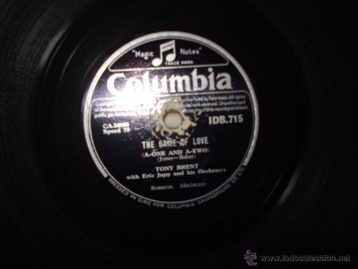 Discos de pizarra: DISCO DE PIZARRA , TONY BRENT , THE GAME OF LOVE , DARK MOON - Foto 3 - 53839158