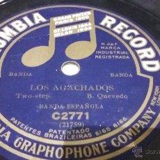 Discos de pizarra: DISCO DE PIZARRA BANDA ESPAÑOLA. Lote 54004969