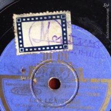 Discos de pizarra: DISCO GRAMÓFONO PIZARRA 78 RPM LAS LEANDRAS CELIA GÁMEZ.LOS NARDOS Y PICHI. Lote 54113841