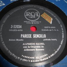 Discos de pizarra: ALFREDO SADEL&ALDEMARO ROMERO PARECE SENCILLO/TU Y EL TIEMPO 25 CTMS RCA 3-52034 ESPAÑA SPAIN. Lote 54156184