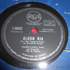 Discos de pizarra: MARIO LANZA ALGUN DIA/SYLVIA 25 CTMS RCA 3-50033 ESPAÑA SPAIN. Lote 54166947