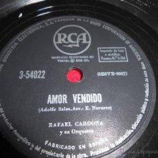 Discos de pizarra: RAFAEL CARDONA CON RAPIDEZ/AMOR VENDIDO 25 CTMS RCA 3-54022 ESPAÑA SPAIN. Lote 54167006