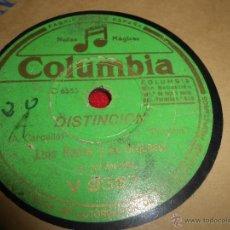 Discos de pizarra: LUIS ROVIRA LA ABEJITA/DISTINCION 25 CTMS COLUMBIA V9367. Lote 54167044