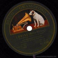 Discos de pizarra: LES ANANAS (PEARLY-EDDY); LOUISE (ROBIN-WHITING) GRAMÓFONO. SP 10''. Lote 54173373