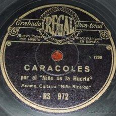 Discos de pizarra: DISCO DE PIZARRA EL NIÑO DE LA HUERTA CON NIÑO RICARDO / QUE TENGAS MUCHAS PALABRAS / CARACOLES, ED.. Lote 54190072