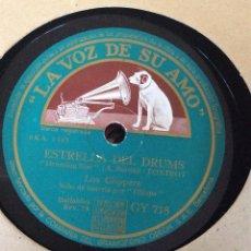 Discos de pizarra: DISCO PIZARRA 78 R.P.M. LOS CLIPPERS. LA VOZ DE SU AMO GY 718. Lote 54553666