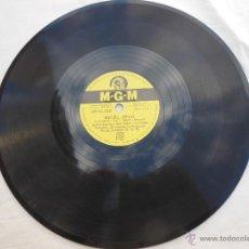 Discos de pizarra: LESLIE CARON, MEL FERRER, HANS SOMMER : HI-LILI, HI-LO; ADORACIÓN. MGM 8227. Lote 54673048