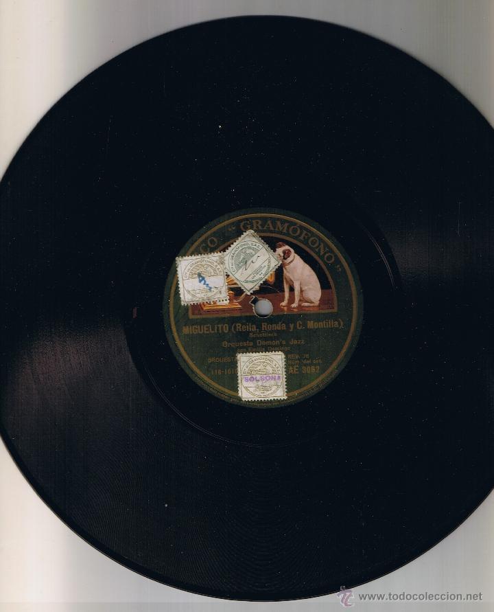Discos de pizarra: ORQUESTA DEMONS JAZZ - MIGUELITO - YO QUIERO VER CHICAGO - DISCO GRAMOFONO AE 3062 - Foto 2 - 54947075