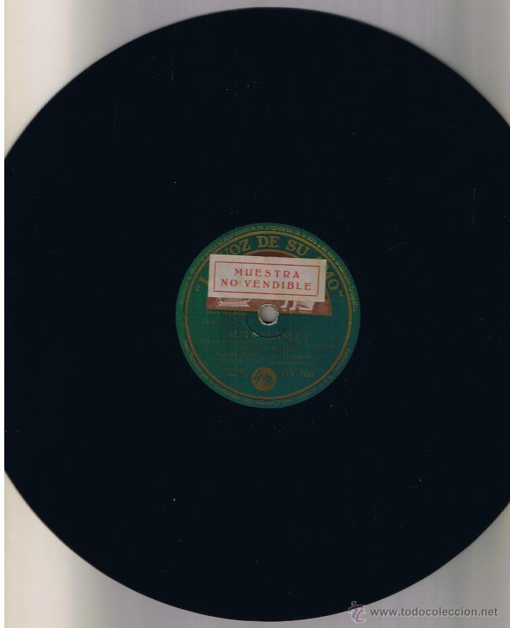 Discos de pizarra: CASAS AUGE Y ORQUESTA Y HERMANAS RUSELL - ALMA LLANERA - TE QUIERO DIJISTE - LA VOZ DE SU AMO GY 760 - Foto 2 - 54973235