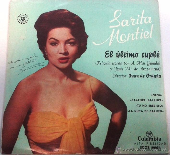 SARITA MONTIEL. EL ÚLTIMO CUPLÉ. (Música - Discos - Pizarra - Flamenco, Canción española y Cuplé)