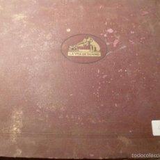 Discos de pizarra: ALBUM ESTUCHE DE DISCOS DE PIZARRA VARIOS 12 DISCOS. Lote 55198263