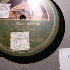 Discos de pizarra: DISCO DE PIZARRA. Lote 55229847