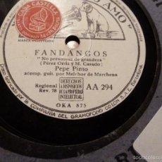 Discos de pizarra: DISCO DE PIZARRA. Lote 55229873