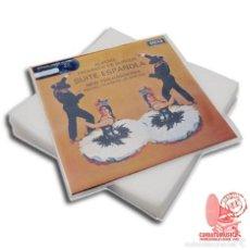 Discos de pizarra: 100 FUNDAS EXTERIORES PARA DISCOS 10 PULGADAS,GRAMOFONO, PIZARRA GALGA 400 27 X 27 CM. Lote 178599068