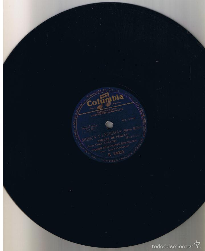 GLENN MILLER MUSICA Y LAGRIMAS COLUMBIA R 24022 (Música - Discos - Pizarra - Solistas Melódicos y Bailables)