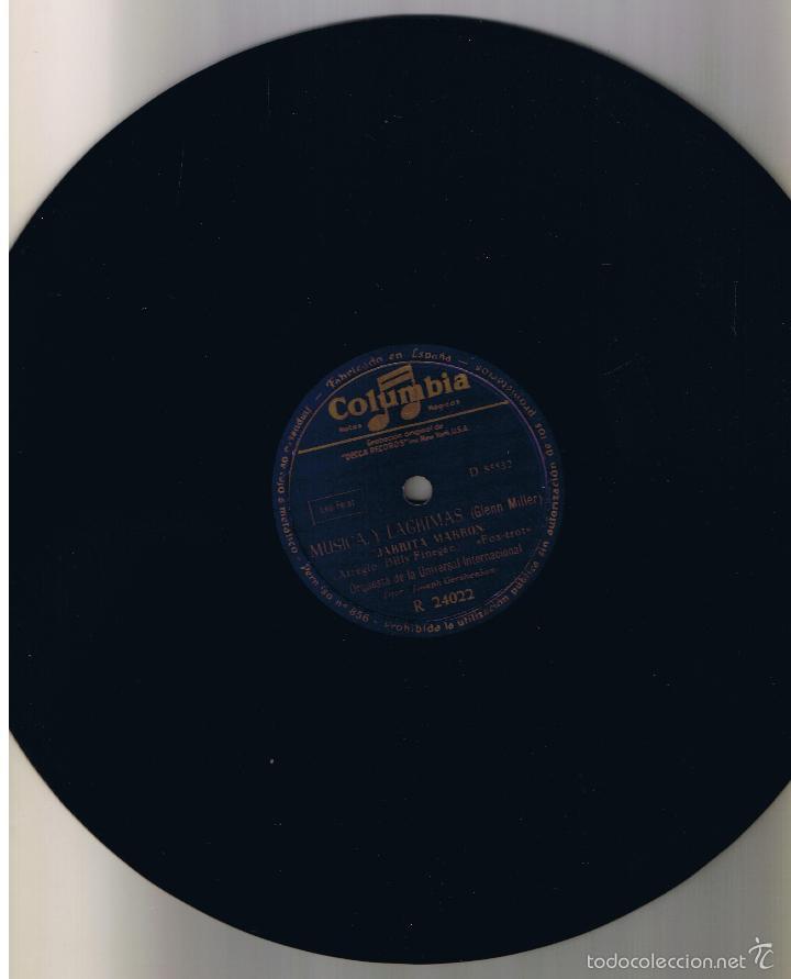 Discos de pizarra: GLENN MILLER MUSICA Y LAGRIMAS COLUMBIA R 24022 - Foto 2 - 55389554