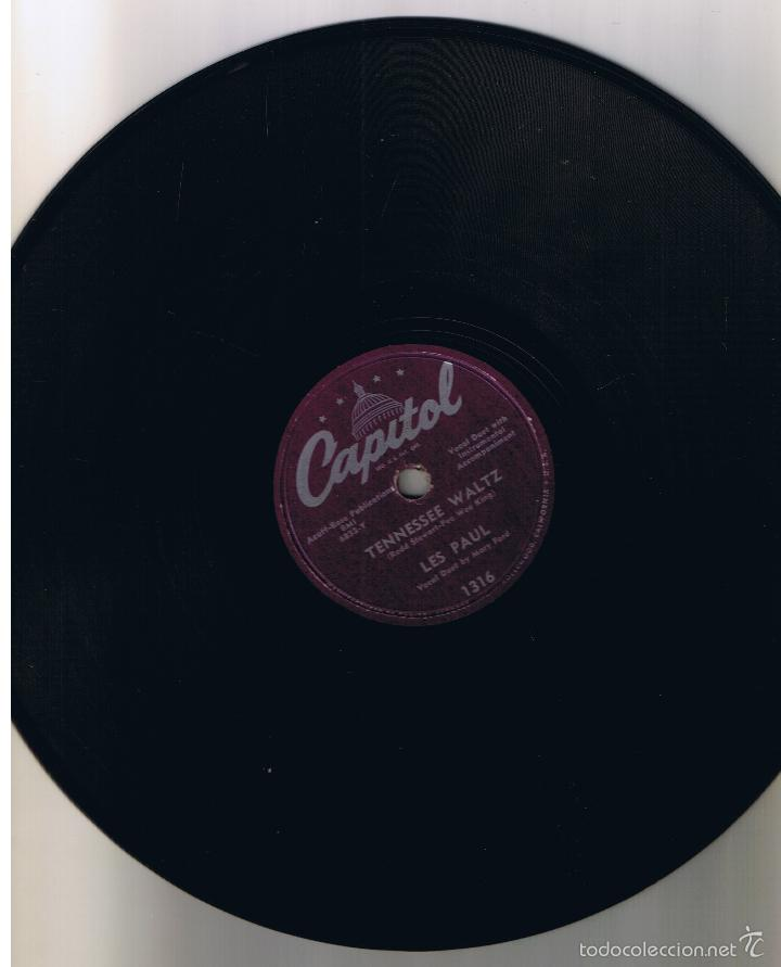 Discos de pizarra: LES PAUL MARY FORD TENNESSEE WALTZ LITTLE ROCK GETAWAY CAPITOL 1316 - Foto 1 - 55555313