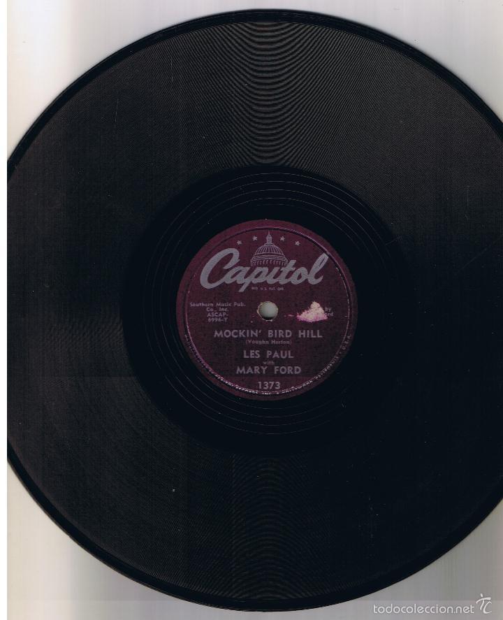 LES PAUL MARY FORD MOCKIN BIRD HILL CHICKEN REEL CAPITOL 1373 (Música - Discos - Pizarra - Solistas Melódicos y Bailables)