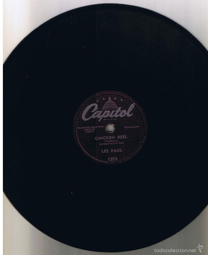 Discos de pizarra: LES PAUL MARY FORD MOCKIN BIRD HILL CHICKEN REEL CAPITOL 1373 - Foto 2 - 55555598