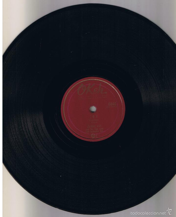Discos de pizarra: JOHNNIE RAY THE LITTLE WHITE CLOUD THAT CRIED CRY OKEH 6840 - Foto 2 - 55562675