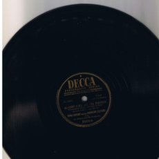 Discos de pizarra: BING CROSBY ANDREWS SISTER AC-CENT-TCHU-ATE THE POSITIVE THERE'S A FELLOW DECCA 23379B. Lote 55564381