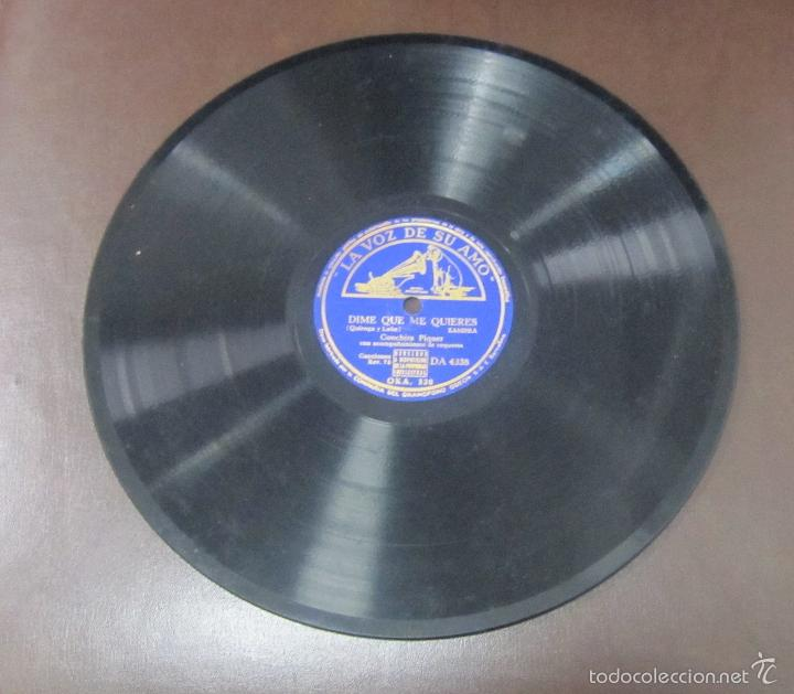 DISCO DE PIZARRA. LA VOZ DE SU AMO. DIME QUE ME QUIERES - ALMUDENA (Música - Discos - Pizarra - Flamenco, Canción española y Cuplé)