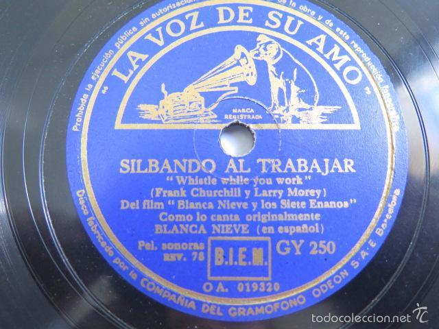 Discos de pizarra: Disco de pizarra de la película Blancanieves. La voz de su amo. - Foto 3 - 55700076