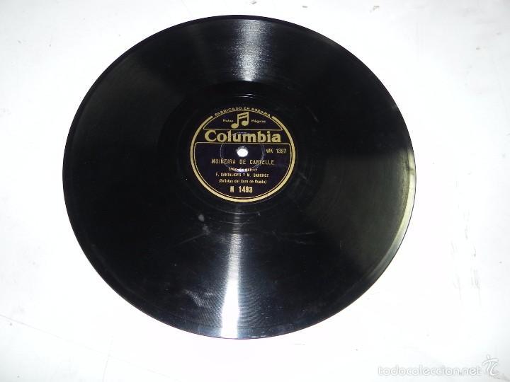 Discos de pizarra: GALICIA, DUO DE GAITAS (SOLISTAS DEL CORO DE RUADA) F. SANTALICES Y M. SANCHEZ, MUIÑEIRA DE CARTELLE - Foto 2 - 55819868