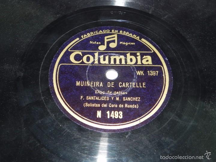 Discos de pizarra: GALICIA, DUO DE GAITAS (SOLISTAS DEL CORO DE RUADA) F. SANTALICES Y M. SANCHEZ, MUIÑEIRA DE CARTELLE - Foto 3 - 55819868