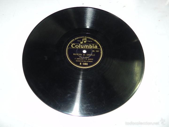 Discos de pizarra: GALICIA, DUO DE GAITAS (SOLISTAS DEL CORO DE RUADA) F. SANTALICES Y M. SANCHEZ, MUIÑEIRA DE CARTELLE - Foto 4 - 55819868
