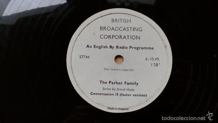 Discos de pizarra: DISCO DE PIZARRA PROGRAMA DE RADIO THE PARKER FAMILY BRITISH BROADCASTING CORPORATION - Foto 4 - 55899635