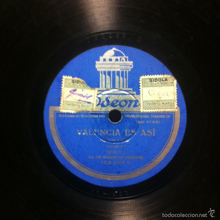 Discos de pizarra: GOYITA - El tango ... Famoso / Valencia es así ODEON 102.253 - CUPLÉ - Foto 2 - 55922087