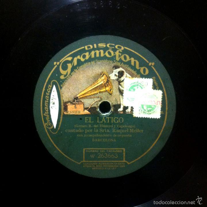 RAQUEL MELLER - EL LÁTIGO / ALLÁ EN PARÍS - GRAMÓFONO W263663/W263664 - CUPLÉ (Música - Discos - Pizarra - Flamenco, Canción española y Cuplé)
