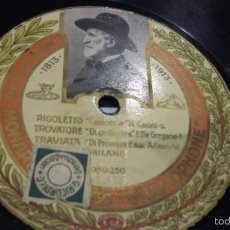 Discos de pizarra: DISCO DE PIZARRA GRAMOPHONE MUY RARO. Lote 56127990