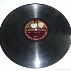 Discos de pizarra: DISCO DE PIZARRA AMERICAN JAZZ-BAND, ANDALUZA DE LEY / CE N´EST PAS LA MEME CHOSE, DISCO NACIONAL, N. Lote 56253180