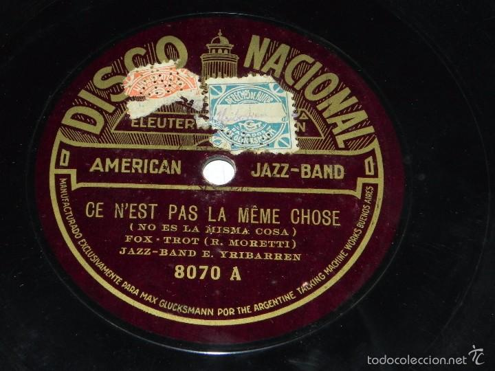 Discos de pizarra: DISCO DE PIZARRA AMERICAN JAZZ-BAND, ANDALUZA DE LEY / CE N´EST PAS LA MEME CHOSE, DISCO NACIONAL, N - Foto 2 - 56253180