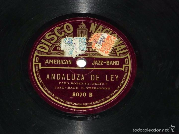 Discos de pizarra: DISCO DE PIZARRA AMERICAN JAZZ-BAND, ANDALUZA DE LEY / CE N´EST PAS LA MEME CHOSE, DISCO NACIONAL, N - Foto 4 - 56253180