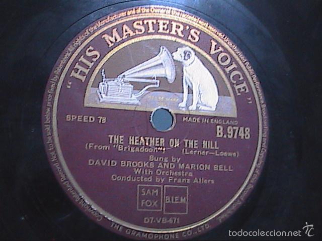 Discos de pizarra: DISCO DE PIZARRA. HIS MASTER VOICE.1930.THE HEATHER ON THE HILL-ALMOST LIKE BEING IN LOVE.BRIGADOON. - Foto 2 - 56306076