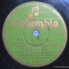Discos de pizarra: DISCO DE PIZARRA.COLUMBIA.1942.CELIA GÁMEZ. YOLA. MIRAME Y ALAS.. Lote 56309792