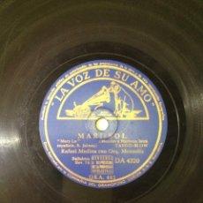 Discos de pizarra: RAFAEL MEDINA Y ORQUESTA MONTOLIU. Lote 56378801