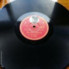 Discos de pizarra: ANTIGUO DISCO PIZARRA COLUMBIA. PLEGARIA GUADALUPANA Y JUAN CHARRASQUEADO ( VICTOR CORDERO). Lote 56460464