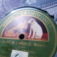 Discos de pizarra: DE CUBA CANTINERA 350€ PIZARRA GRAMOFONO SARDANAS1927 DE COBLA BARCELONA. Lote 56748333