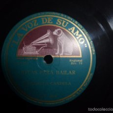 Discos de pizarra: DISCO DE PIZARRA DE JOTAS PARA BAILAR DE PILAR GASCON ACOMPAÑADA DE LA RONDALLA CANDELA . Lote 56812514