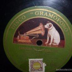 Discos de pizarra: DISCO DE PIZARRA, TANGO POR IRUSTA-FUGAZOT -DEMARE Y SU ORQUESTA TIPICA ARGENTINA. Lote 56837153