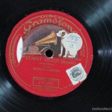 Discos de pizarra: ENRICO CARUSO - ROSSINI: STABAT MATER: CUJUS ANIMAM - COMPAÑIA DEL GRAMOFONO 2-052086. Lote 56861184