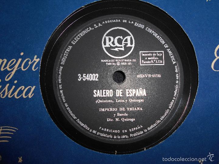 IMPERIO DE TRIANA // SALERO DE ESPAÑA / JAIME OSTOS // DISCO DE PIZARRA A ESTRENAR (Música - Discos - Pizarra - Flamenco, Canción española y Cuplé)