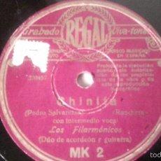 Discos de pizarra: ANTIGUO DISCO DE GRAMOFONO PIZARRA ORIGINAL DE LOS AÑOS 30/40. Lote 57070229