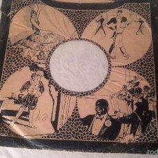 Discos de pizarra: ANTIGUA FUNDA DISCO DE GRAMOFONO PIZARRA ORIGINAL DE LOS AÑOS 30/40 26 CMTS. Lote 57070634